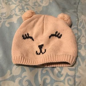 Baby girl 100% cotton knitted hat